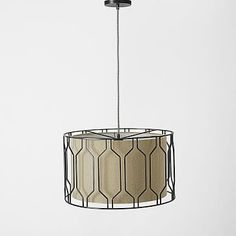 Metal Honeycomb Drum Pendant #westelm 239 +15% off
