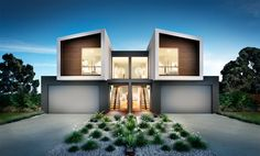 Many of Australias leading home builders and architects trust Mazer Visual to deliver their home visualisations.We work as partners with many of these home builders providing both photography, visualisation and animated film to build a style which is tr… Residential Architecture, Contemporary Architecture, Amazing Architecture, Architecture Design, Townhouse Designs, Duplex House Design, Modern House Design, Facade Design, Exterior Design