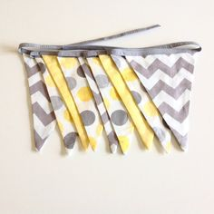 Fabric Bunting flags baby shower decoration by FigTreeHillCrafts