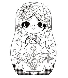 Russian doll coloring pages | Found on lilidoll-minidoll.blogspot.fr