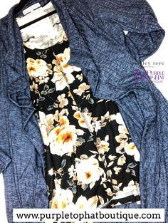 This blue Paisley Raye Dusty Miller makes the navy in the Tulip Tee pop! #paisleyraye #paisleyrayedustymiller #paisleyrayetuliptee #ootd #outfitoftheday