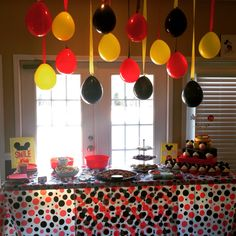 Mickey Mouse themed first birthday party
