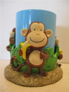 Put a smile on your little ones face with this cute tumbler. Kids of all ages will love this one. Toothbrush And Toothpaste Holder, Monkeys, Little Ones, Bath, Mugs, Tumblers, Tableware, Smile, Rompers