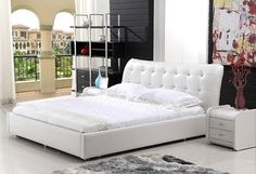 Acoro Modern Leather Bed Frame Modern Bedroom Decor, Modern Bedroom Furniture, Leather Bed Frame, Thought For Today, Leather Furniture, Mattress, Thoughts, Beds, Home Decor