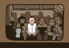 """""""Allo?"""" by graphic designer Jean Jullien is a commentary on smartphones and the awkwardness of social interaction they have created"""