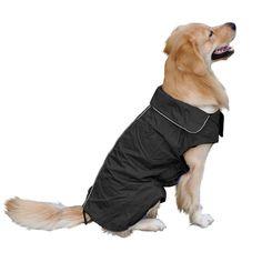 d3bea3ca96 Fosinz Outdoor Dog Coat with Leash Access Reflective Waterproof Jacket  FleeceLined Comfort Warm Vest for Cold