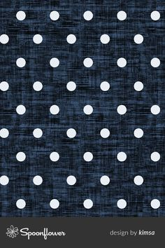 Polkadot -Navy Blue Texture custom fabric by kimsa for sale on Spoonflower Fabric Wallpaper, Pattern Wallpaper, Geometric Designs, Geometric Shapes, Color Patterns, Print Patterns, Geometric Drawing, Custom Printed Fabric, Blue Texture