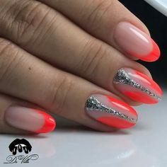 Nail art design ideas | short nails| with glitter