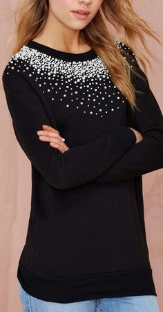 scattered pearl sweater