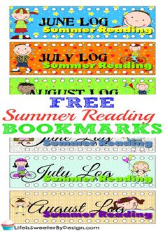 Free Printable Summer Reading Bookmarks for Kids