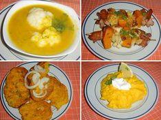"Nesmí to být ""kaše"", to strávníky odradí. Mashed Potatoes, Tofu, Curry, Food And Drink, Cooking Recipes, Eggs, Vegetarian, Vegetables, Breakfast"