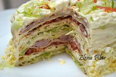 Mi Recetario por Elena Pilar: Pastel salado de crêpes, con o sin Thermomix