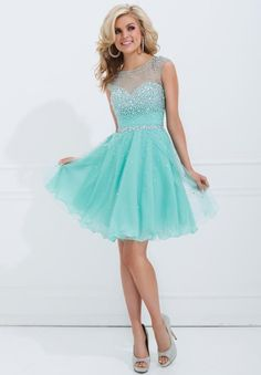 baby blue party dress
