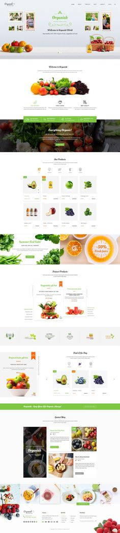 Organisk - Multi-Purpose Organic PSD Template #food shop psd #healthy food • Download ➝ https://themeforest.net/item/organisk-multipurpose-organic-psd-template/18553275?ref=pxcr