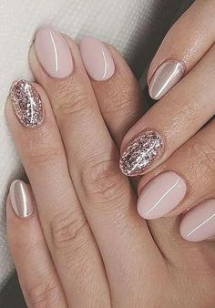 Colorful Gel Nails ideas Suitable For Summer For Well Groomed And Showy Ladies. … Colorful Gel Nails ideas Suitable For Summer For Well Groomed And Showy Ladies. …,Nailorder Colorful Gel Nails ideas Suitable For. Gold Nail Art, Rose Gold Nails, Sparkle Nails, Gold Gel Nails, Teal Nails, Metallic Nails, Hair And Nails, My Nails, No Chip Nails
