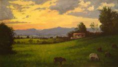 "Claudio Furlan - ""Fim de tarde"" - Caçapava - SP. / Pintura ao ar livre -  ""plein air painting""."