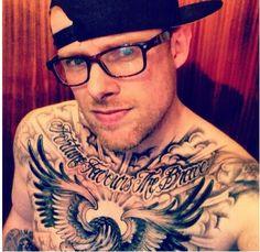 Legit bird chest tattoo!