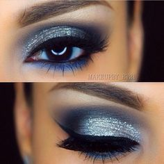 Gorgeous Makeup: Tips and Tricks With Eye Makeup and Eyeshadow – Makeup Design Ideas Prom Eye Makeup, Blue Eye Makeup, Makeup For Brown Eyes, Eyeshadow Makeup, Makeup Brushes, Prom Makeup Blue Dress, Makeup Geek, Navy Blue Eyeshadow, Navy Makeup