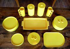 Massimo Vignelli for Heller Yellow Dish Set