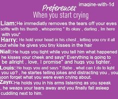 The boys are so sweet when you are crying!!
