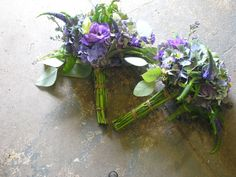 Purple Bridal bouquet hand tied with wildflowers, organic wedding for a laid back bride