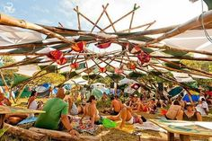 Der Festival Sommer in Portugal 2016 Yoga Festival, Festival Camping, Trance, Raves, Festivals, Shade Structure, Music Decor, Stage Design, Installation Art