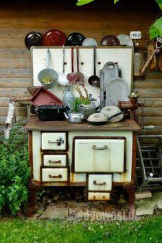 Küchenhexe, sehr dekorativ