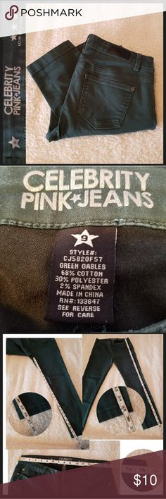 Green Gables Celebrity Pink Low Rise Skinny Jeans Green Gables Celebrity Pink Low Rise Skinny Jeans Size 9 Low Rise Skinny Jeans in Green Gables color.  25% OFF BUNDLES OF 3 OR MORE ITEMS. REASONABLE OFFERS ACCEPTED BUY WITH CONFIDENCE ☆SUGGESTED USER☆, TOP 10% SELLER, FAST SHIPPING! Celebrity Pink Jeans Skinny