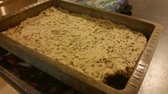 Fudge brownies with chocolate chip cookie dough frosting