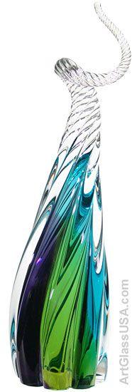 Blown glass sculpture by Paul Harrie Blown Glass Art, Art Of Glass, Glass Artwork, My Glass, Fused Glass, Stained Glass, Vases, Glass Ceramic, Glass Design