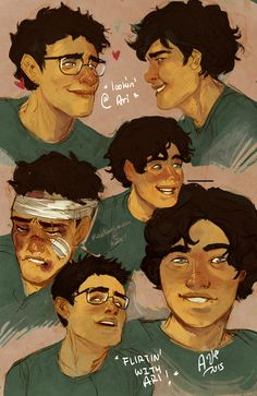 "Ari and Dante, from ""Aristotle and Dante Discover the ..."