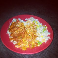 Slimming world chicken curry and vegetable rice