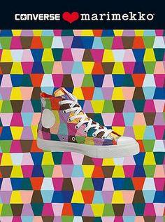 Chuck Taylor All Star Marimekko. Kaileidoskooppi print by Maija Louekari. I need a pair!