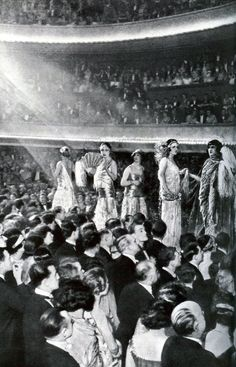 Parisian fashion show, 1924.