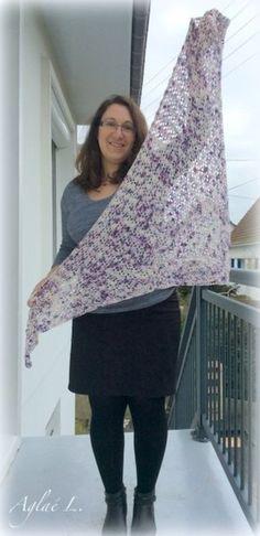 Quand un joli fil rencontre le châle South Bay Shawlette - Modèle gratuit sur Ravelry - Crochet - Hook - Mérinos - Free pattern -