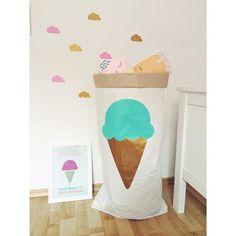 #paperbag XXL met #ijsje #storagebag #icecream