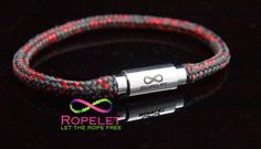 Red and black Ropelet with out magnetic non locking clasp, one of the handmade rope bracelets by www.ropelet.co.uk #ropelet #ropebracelet #wristwear