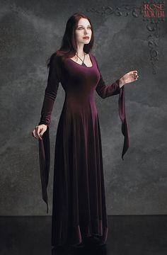 Morgana Velvet Fairy Gown - Custom Elegant Gothic Clothing and Dark Romantic Couture