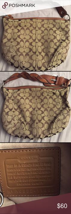 Coach purse Coach purse in brown and beige. Still in amazing condition just some pen marks inside the bag. Reasonable offers are accepted! :) Coach Bags Shoulder Bags