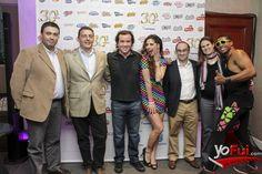 YoFui.com: Luis Nieto, Marcelo Kuflik, Ignacio Lizama, Modelo, Gonzalo Novo, Marta Ordoquiz, Modelo en Celebración de los 30 años de PepsiCo Alimentos en Chile, Terraza del The Ritz Carlton, Santiago (Chile)