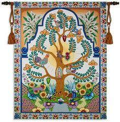 US Seller-bedroom wall art decor hispanic art Mexican bird wall hanging tapestry