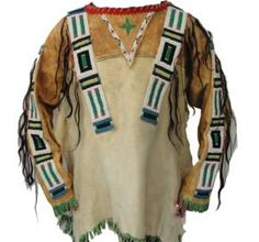 War Shirt - Sioux Style - - Mens Clothing Native American Products and Craft Supplies