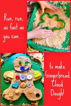 Run, Run As Fast As You Can...to make Gingerbread Cloud Dough with your Kids!  Great for sensory tables!!