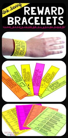 Looking for an alternative to brag tags or an affordable prize box option? These ink saving reward bracelets are a fun and easy way to praise, reward, and positively reinforce desired student behavior! My students love them and I am no longer spending a fortune on prizes!