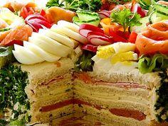 Swedish sandwich cake! Love the idea, so easy to change it up
