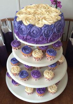 Swirl rose cake