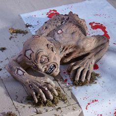 IDEAS & INSPIRATIONS: Lifelike Crawling Zombie Half Ghoul Torso Outdoor Halloween Prop Decoration New - Outdoor Halloween Decorations