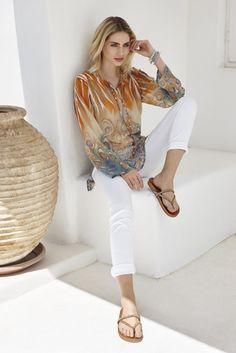 Die schönsten #Damen #Citylooks für den #Sommer2016. #Sommermode #Santorini #Womenswear #Reischmann #Tunika #Jeans #summer