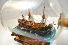 Ship In Bottle, Low Poly, Sailing Ships, Patience, Art Work, Diy, Handmade, Bottle, Artwork