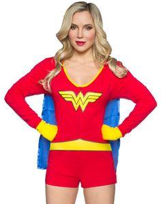 57e215dde5 Wonderwoman Romper Onesie with Cape for women Rompers Women